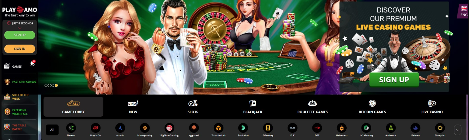 официальный сайт PlayAmo Сasino